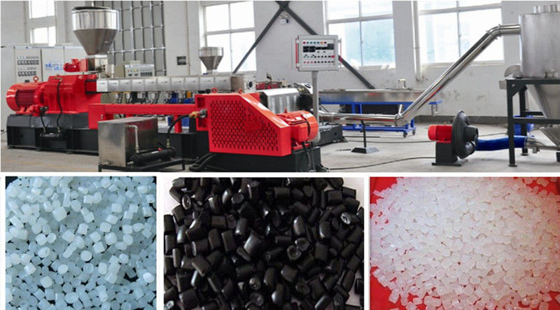 PVC Cable Plastic Film Extruder Machine , Plastic Pelletizing Equipment